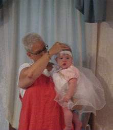 Lia at her baptism