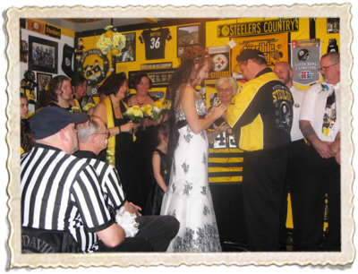 Vow Renewal Steelers Style